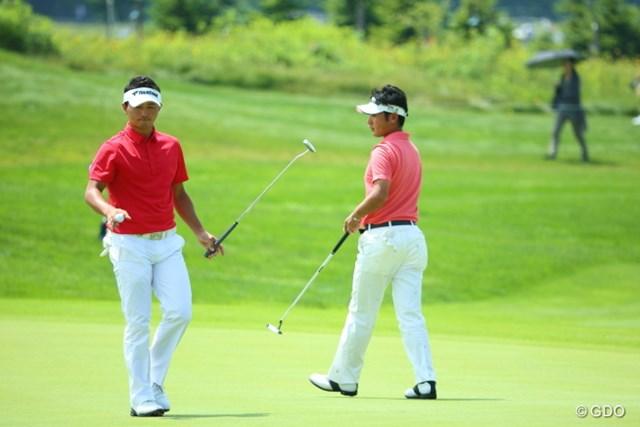 2013年 長嶋茂雄 INVITATIONAL セガサミーカップゴルフトーナメント 最終日 片岡大育&河野祐輝 2人は同じ高校出身。同学年でチームを引っ張った仲だった。