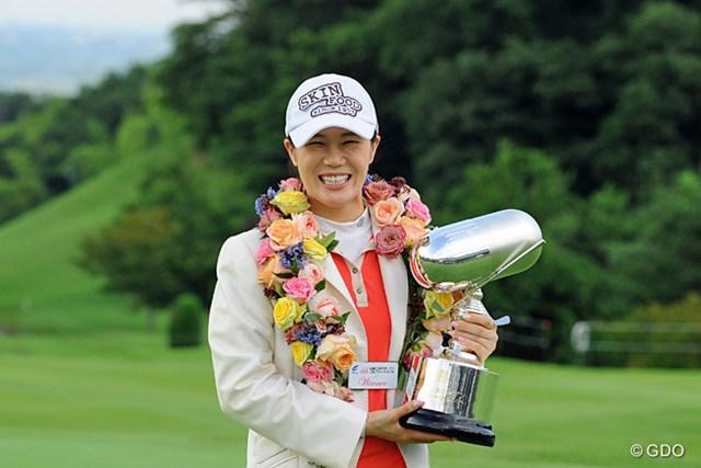 2013年 日医工女子オープンゴルフトーナメント 最終日 ヤング・キム 日本ツアー初勝利を手にしたヤング・キム。米国ツアー優勝経験を持つ実力者だ
