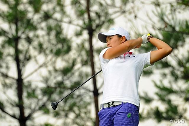 2013年 日医工女子オープンゴルフトーナメント 最終日 成田美寿々 土砂降りの中で、本日のベストスコアとなる67をマークして19位から5位タイにジャンプア~ップしたマー君。強い!