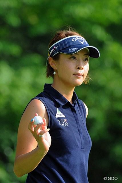 2013年 日医工女子オープンゴルフトーナメント 最終日 下村真由美 悪条件の中で4バーディ、ノーボギーのナイスプレー。ん?3位の菊地はんもシモマユ姐さんと同じ事務所や…。