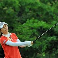米女子ツアー優勝経験のあるヤング・キム。日本ツアーでは初勝利だった。 2013年 日医工女子オープンゴルフトーナメント 最終日 ヤング・キム