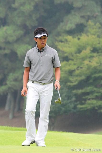 終盤の4ホールで3ストローク伸ばし4位タイに食い込んだ上井邦浩