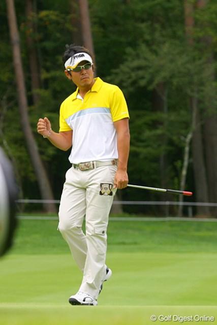 2位タイの矢野東。「パターのタッチが合っているので、安心してゴルフが出来る」