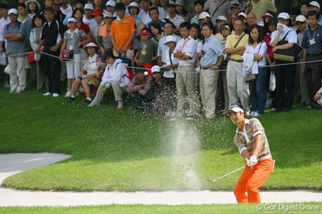 この日も多くのギャラリーの期待に応えるプレーを見せた石川遼