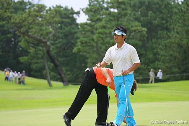 最終18番でもバーディを奪い、21位タイから3位タイに浮上した武藤俊憲