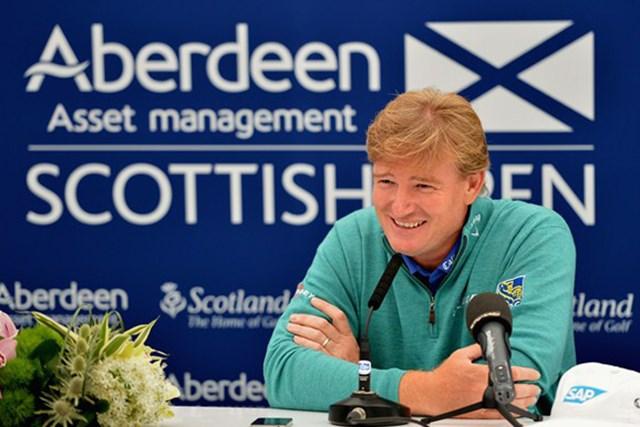 2013年 アバディーンアセットマネジメント スコットランドオープン 事前情報 アーニー・エルス 大会連覇を狙う「全英オープン」へ、好調を維持して乗り込むことを期待するE.エルス(Getty Images)
