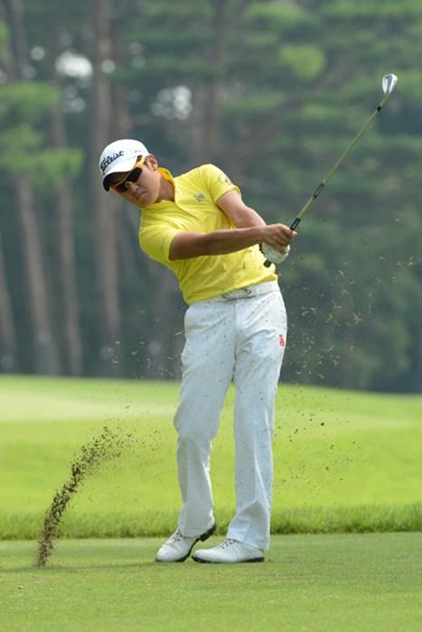 1回戦では昨年大会のランナーアップ、比嘉一貴を撃破。ベスト8に進出した佐藤大平 (画像提供/JGA) 2013年 日本アマチュアゴルフ選手権 3日目 佐藤大平