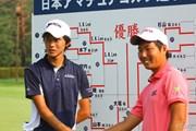 2013年 日本アマチュアゴルフ選手権競技 4日目 大堀裕次郎(左)と杉山知靖