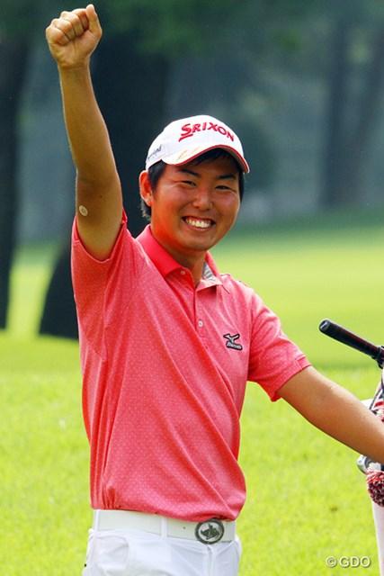 2013年 日本アマチュアゴルフ選手権競技 4日目 杉山知靖 17番でバーディを奪い勝利を決めた杉山知靖