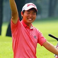 17番でバーディを奪い勝利を決めた杉山知靖 2013年 日本アマチュアゴルフ選手権競技 4日目 杉山知靖