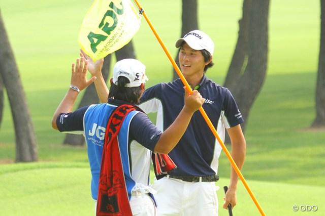 2013年 日本アマチュアゴルフ選手権 4日目 大堀裕次郎 20ホール目にバーディ奪って勝利を掴んだ大堀