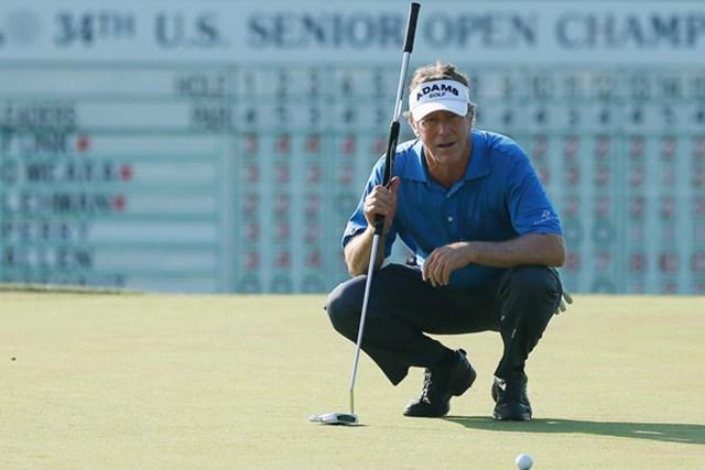 2013年 全米シニアオープン 2日目 マイケル・アレン 早くも独走態勢?M.アレンが2位に5打差を付けてトップに立った。(Scott Halleran/Getty Images)