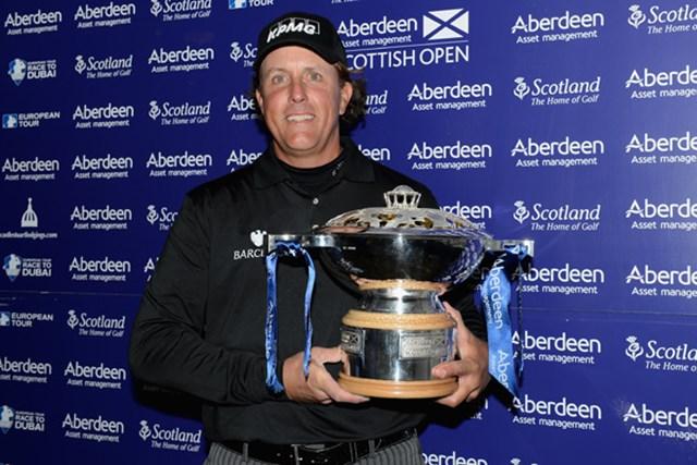 P.ミケルソンがスコットランドで逆転V!次週全英に弾みをつけた(Warren Little/Getty Images)