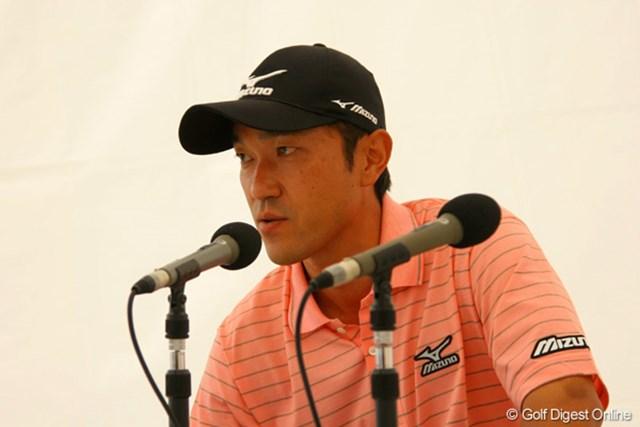 「開幕から良くないので、上位争いをして切り替えたいと思っていた」という佐藤信人。首位タイの好スタート