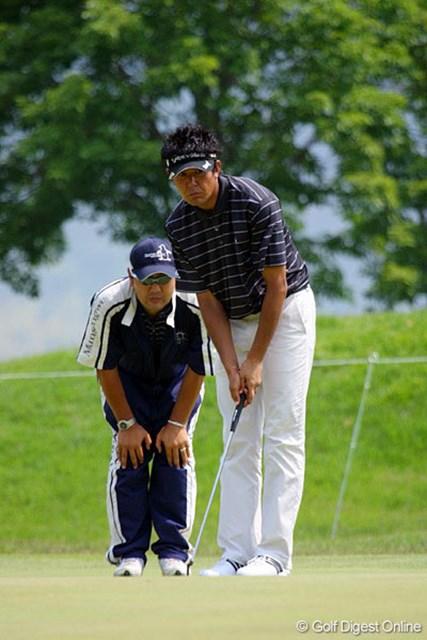 「ドキドキしながらやっています」という富田雅哉。「崩れないゴルフがしたい」