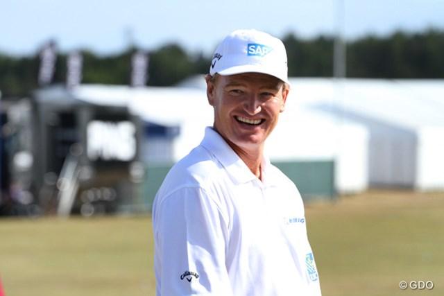 2013年 全英オープン 事前 アーニー・エルス ディフェンディングチャンピオンであり、前回ミュアフィールドで行われた時の優勝者でもあるアーニー・エルス