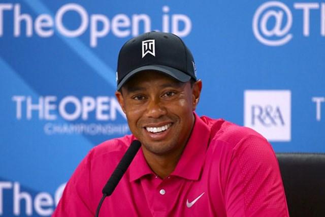 2013年 全英オープン 事前 タイガー・ウッズ 「今は準備万端」と、開幕前の記者会見に臨んだタイガー・ウッズ(Getty Images)