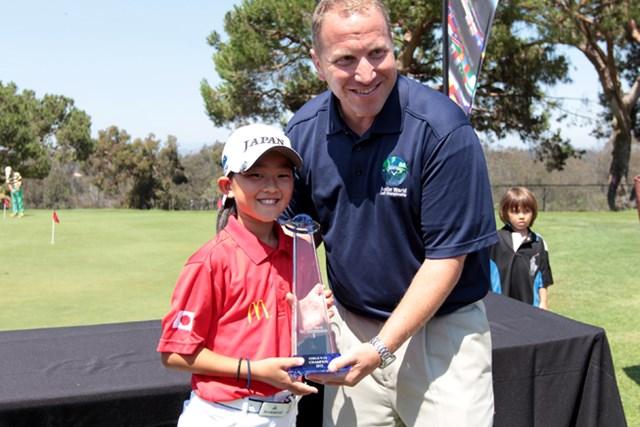 阿部未来は女子9~10歳の部を制覇。最終18番での劇的な逆転勝利だった ※画像提供:国際ジュニアゴルフ育成協会