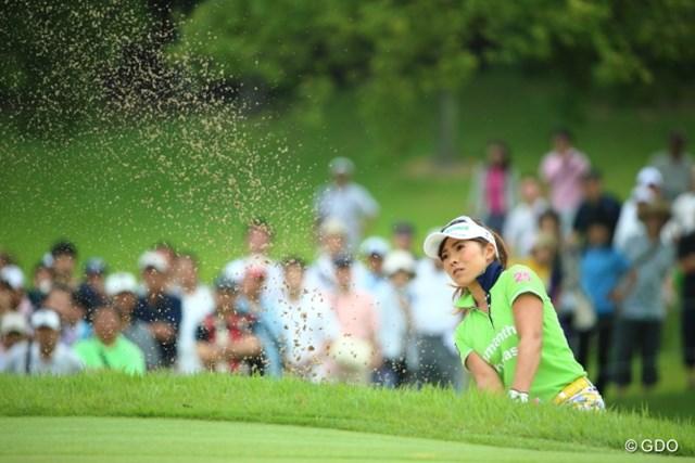 2013年 サマンサタバサ ガールズコレクション・レディーストーナメント 最終日 堀奈津佳 ホステスプロのプレッシャーの中で我慢のゴルフを強いられた堀「もっと上の順位にいたかった」