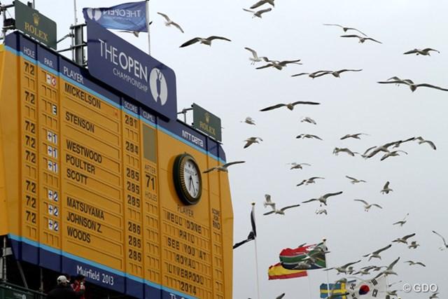 2013年 全英オープン 最終日 リーダーズボード