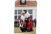 2013年 全英オープン 最終日 フィル・ミケルソン 家族写真