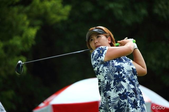 2013年 サマンサタバサ ガールズコレクション・レディーストーナメント 最終日 吉田弓美子 3日間を通して好調だったドライバーショットも優勝の原動力に。今季2勝目を手にした吉田弓美子