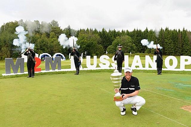 2013年 M2Mロシアンマスターズ 最終日 マイケル・ホーイ ロシアの地で、自身5つ目のタイトル獲得を果たしたM.ホーイ (Getty Images)