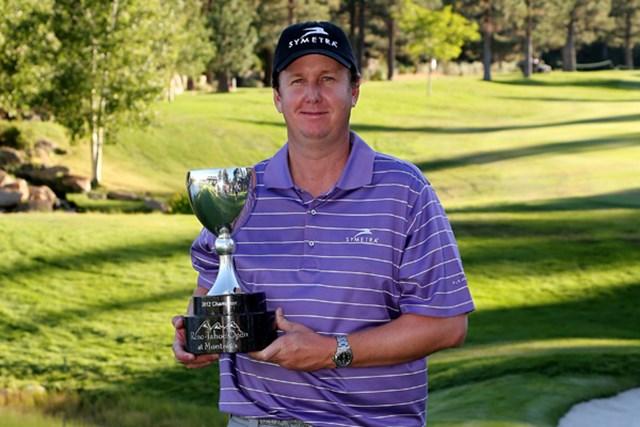 2013年 リノタホオープン 事前 J.J.ヘンリー ポイント争いの攻撃的なゴルフで大会連覇を狙うJ.J.ヘンリー(Stephen Dunn /Getty Images)