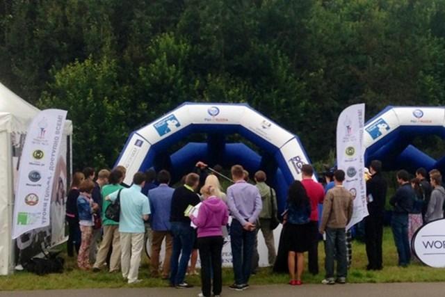 2013年 M2M ロシアンマスターズ ロシアで開催され多くの地元ギャラリーがゴルフに興味を示した(Getty Images)