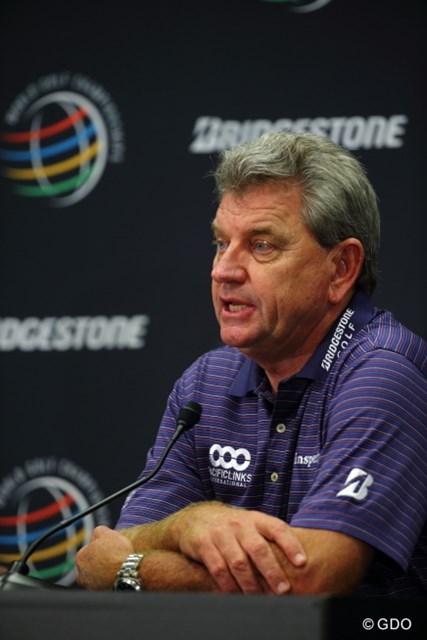 2013年 WGCブリヂストンインビテーショナル 事前 ニック・プライス プレジデンツカップ世界選抜の主将を務めるニック・プライス。4連敗中の流れを止められるか