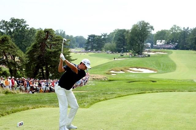 2013年 WGCブリヂストンインビテーショナル 事前 ジャスティン・ローズ 予選をフィル・ミケルソンとラウンドすることになったジャスティン・ローズ(Getty Images)