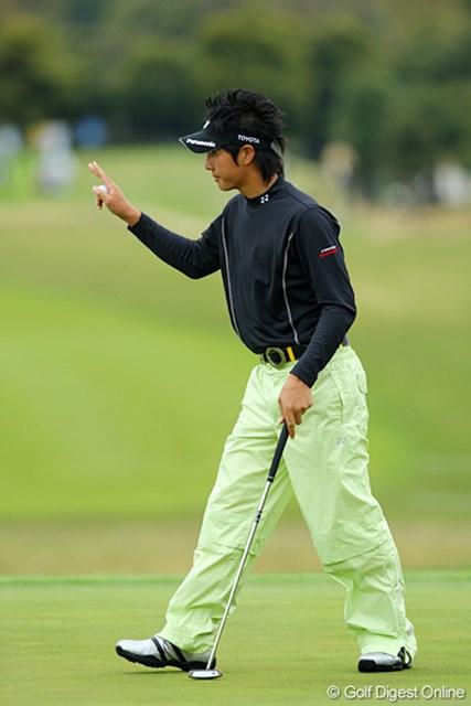 予選2ラウンドを終えた石川遼が暫定ながら単独首位に浮上した