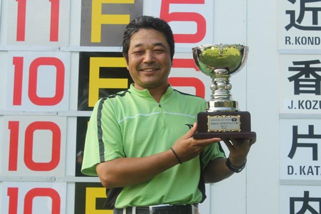 プレーオフを制し、チャレンジツアー初勝利を手にした河村雅之 ※画像提供:JGTO