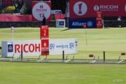 2013年 全英リコー女子オープン 3日目 強風により倒れたフェンス