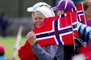 2013年 全英リコー女子オープン 最終日 ノルウェー応援団