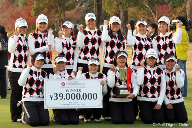 日本チーム 福岡で開催された昨年の大会は、日本チームが7年ぶりの勝利を掴んだ