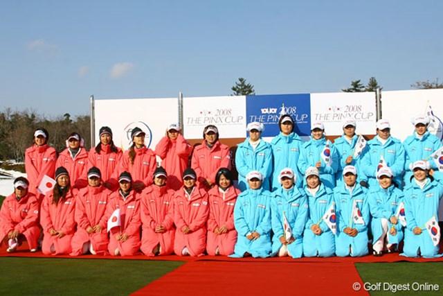 ベストメンバーが揃った両国だが、ゴルフで勝負することは出来なかった。