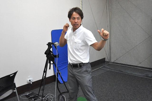 golftec ヨコからタテのイメージへ!! 3-1