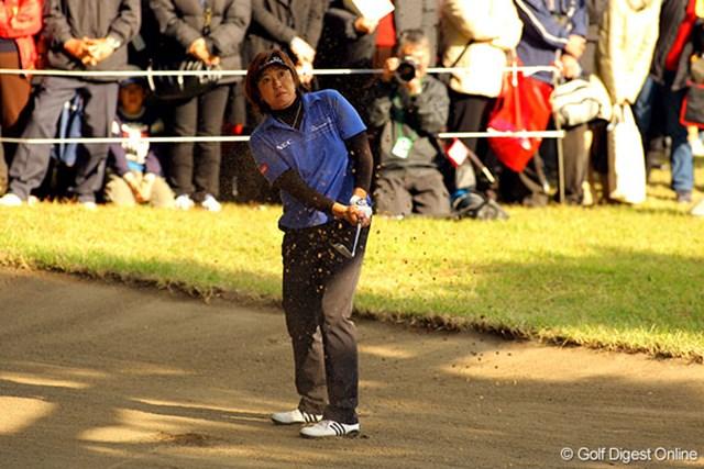 イーグルあり、OBありの福嶋晃子は、今季メジャー2勝目へ向け3位タイ