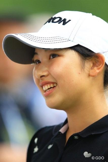 地元・北海道の中学生です。惜しくも1打足りず予選落ち。それにしても中学生には見えない、落ち着いた表情です