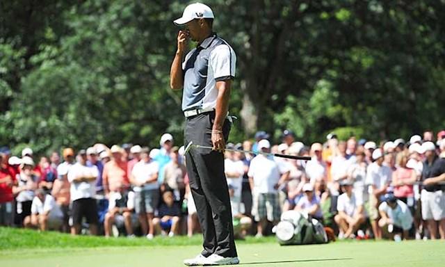 2013年 全米プロゴルフ選手権 3日目 タイガー・ウッズ チャージをかけたい3日目もパットが決まらずスコアを落としてしまったタイガー・ウッズ(Getty Images)