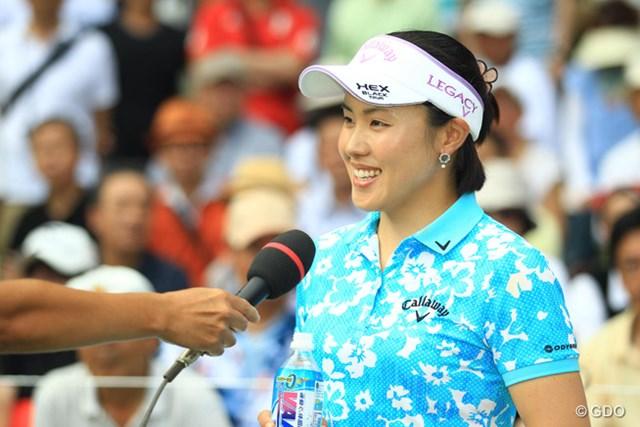2013年 meijiカップ 最終日 ナ・ダエ 優勝インタビューやスピーチは、すべて日本語でした。あんなに日本語が上手だとは知りませんでした