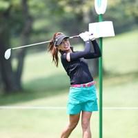 美人ゴルファーの笑顔はやっぱり良いよね。3アンダー10位タイ 2013年 NEC軽井沢72ゴルフトーナメント 初日 辻村明須香