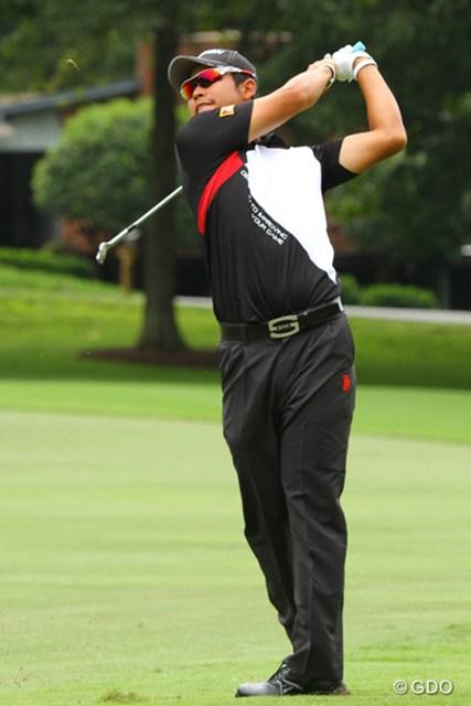 2013年 ウィンダム選手権 2日目 松山英樹 3ホール目を終えて、一気にチャージ。ハートでゴルフは変わるみたい。