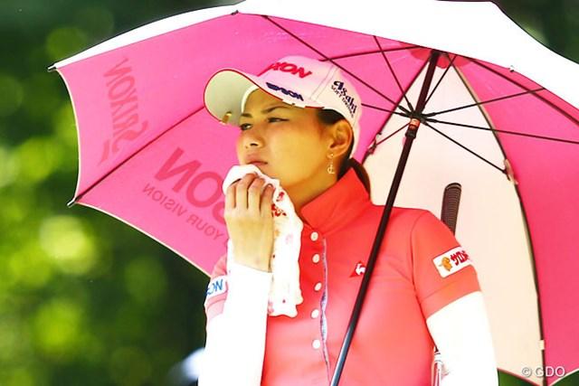 2013年 NEC軽井沢72ゴルフトーナメント 2日目 横峯さくら 残念!101試合で連続予選通過記録が途切れてしまいました