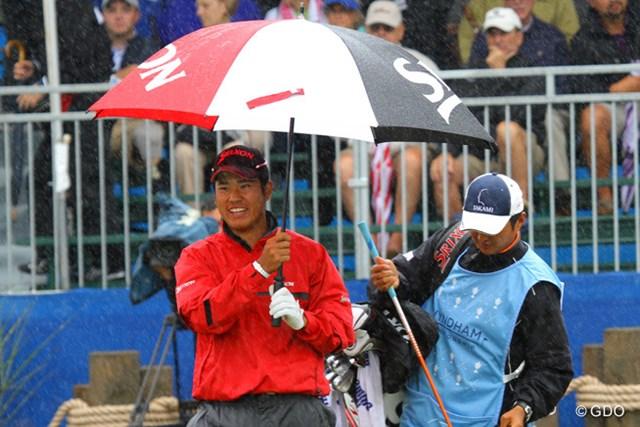 2013年 ウィンダム選手権 3日目 松山英樹 なんだか雨が楽しそう