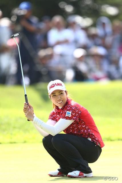 2013年 NEC軽井沢72ゴルフトーナメント 最終日 笠りつ子 18番バーデイパットが入らずプレーオフ進出ならず。13アンダー3位