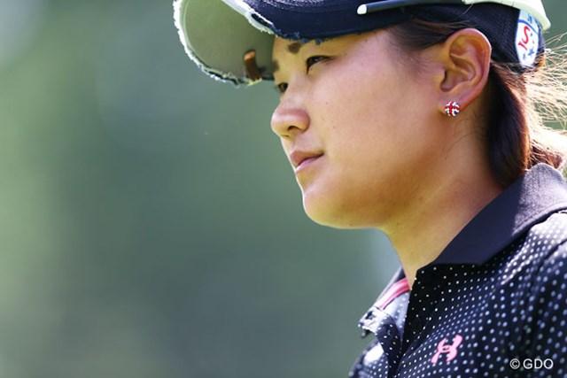 2013年 NEC軽井沢72ゴルフトーナメント 最終日 成田美寿々 おしゃれなピアス