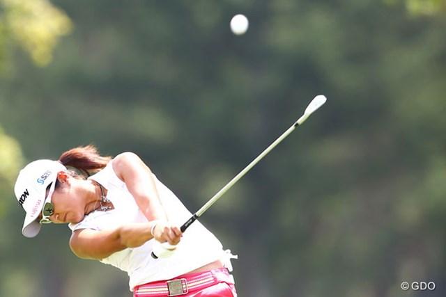2013年 NEC軽井沢72ゴルフトーナメント 最終日 藤本麻子 10アンダー6位タイフィニッシュ。いま一つ伸ばせませんでした