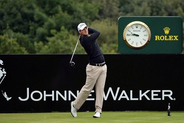 2013年 ジョニーウォーカー選手権 初日 ベルンド・ウィスバーガー オーストリアの27歳ベルンド・ウィスバーガーが初日首位に立った(Getty Images)
